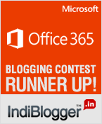 Microsoft Office 365 - IndiBlogger Winner