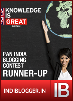 Knowledge Is Great IndiBlogger Contest Runner-up