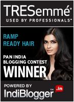 TRESemmé Ramp Ready Hair - IndiBlogger Contest Winner