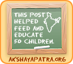 This blog helps feed & educate 50 children.
