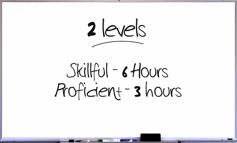 2 levels: The Skillful, The Proficient