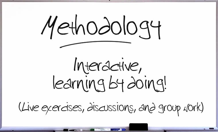 Methodology: Interactive, learning by doing